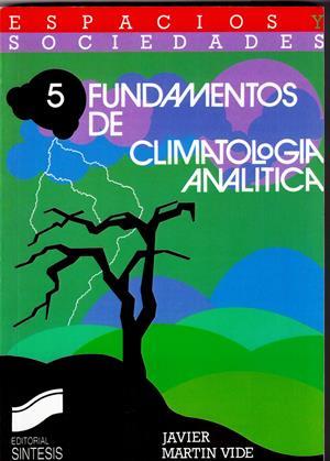 fundamentos de climatologa analtica espacios y sociedades